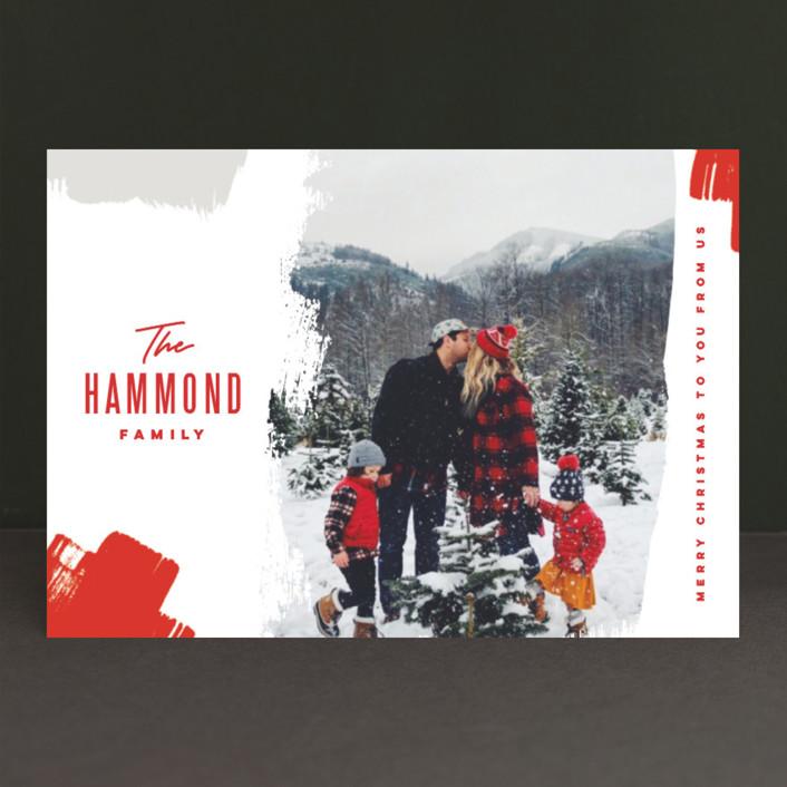 """Bold Brushstrokes"" - Holiday Postcards in Festive by Oscar & Emma."