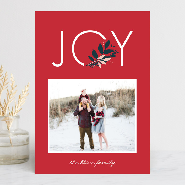 """""""Joy to You"""" - Holiday Postcards in Berry by lena barakat."""