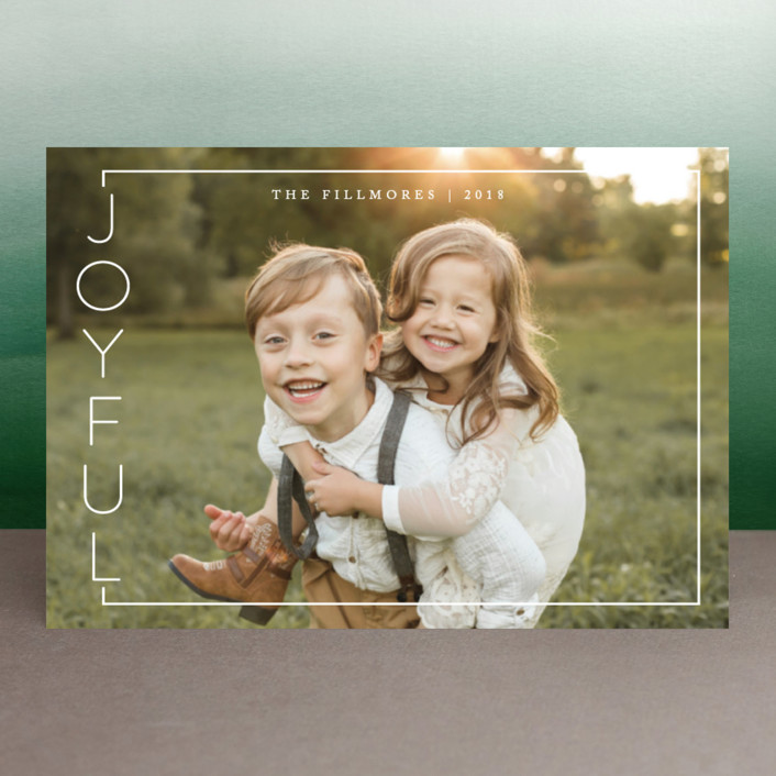 """""""Side of Joy"""" - Holiday Postcards in Snow by Kate Sorensen."""