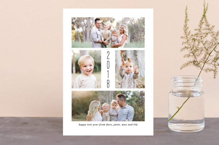 """Simply Joy"" - Holiday Postcards in Onyx by Amy Payne."