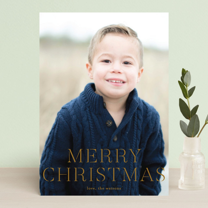 """""""formal fancy merry"""" - Holiday Postcards in Golden by Phrosne Ras."""