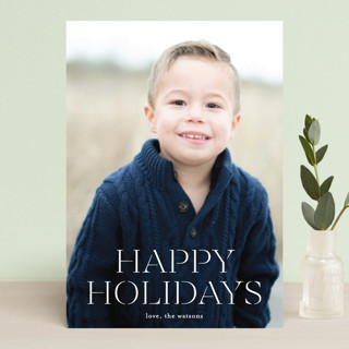 formal fancy merry Holiday Postcards