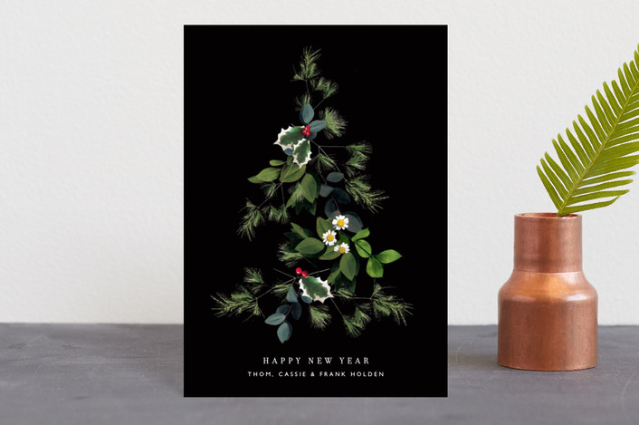 """Floral Tree"" - Holiday Postcards in Night by Baumbirdy."