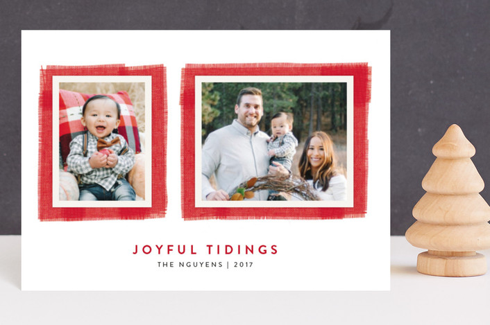 """Joyful Frame"" - Holiday Postcards in Cherry by Kelly Nasuta."