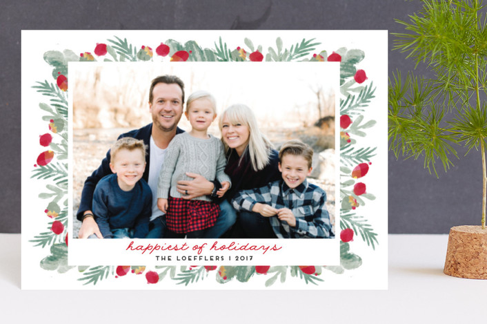 """""""merry bricolage"""" - Holiday Postcards in Holly by pandercraft."""