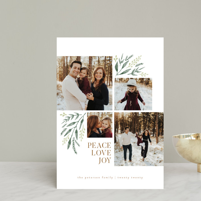 """""""Holiday Boughs"""" - Holiday Postcards in Cream by Robert and Stella."""