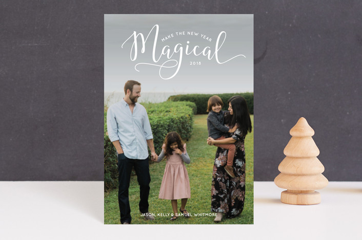 """""""Make the Holidays Magical"""" - Holiday Postcards in Snow by Laura Hamm."""