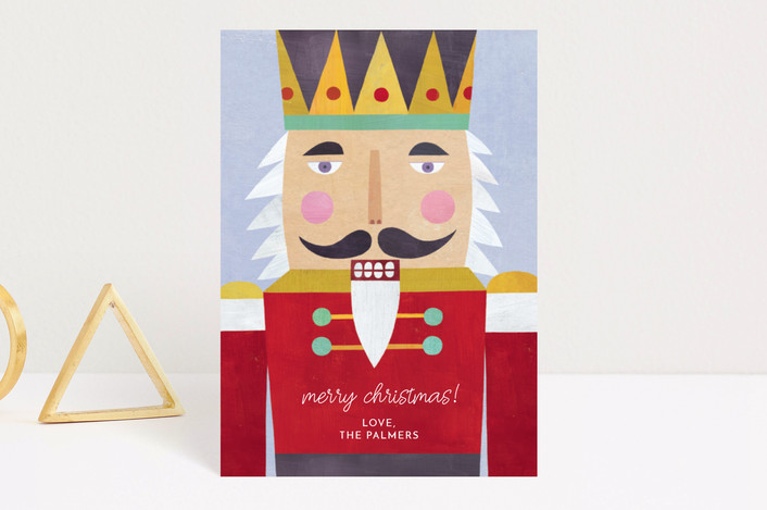 """Nutcracker"" - Vintage Holiday Postcards in Crimson by melanie mikecz."