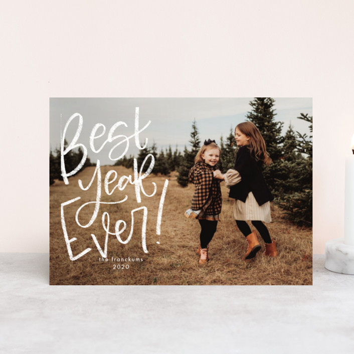 """""""The Best Ever"""" - Holiday Postcards in Snowfall by Amy Payne."""