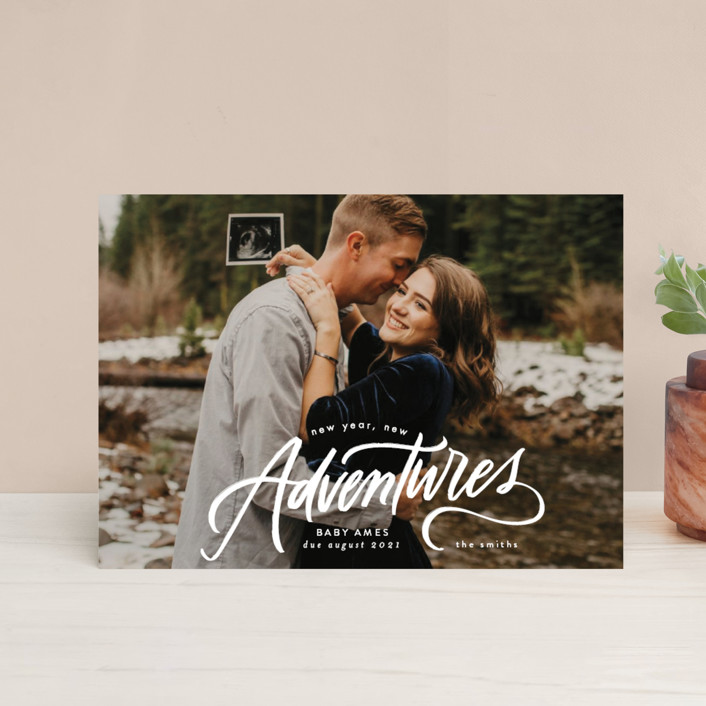 """""""New Year. New Adventures"""" - Holiday Postcards in Winter by Erin L. Wilson."""