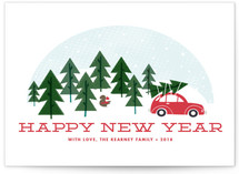 Car Ride Holiday Postcards