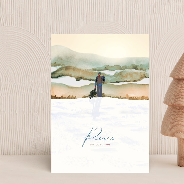 """""""Winter Vista"""" - Bohemian Holiday Postcards in Dawn by Shannon."""
