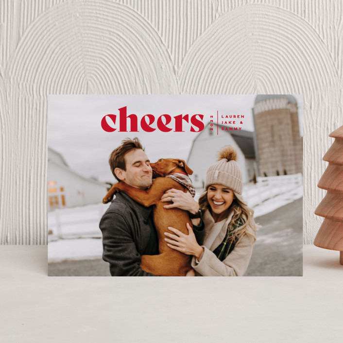 """""""Cheers Bold"""" - Holiday Postcards in Raven by Owl and Toad."""