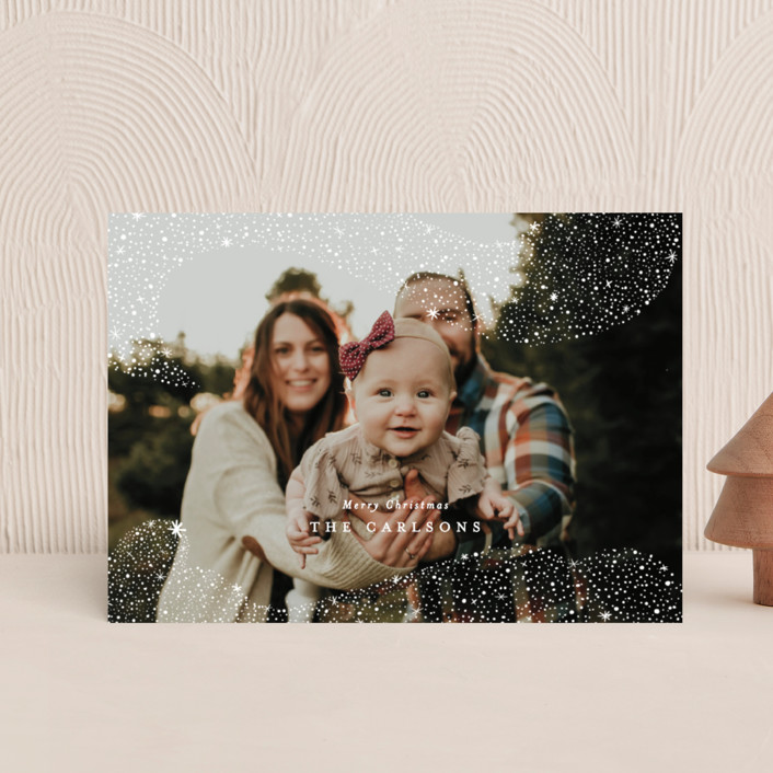 """""""Snowfall"""" - Bohemian Holiday Postcards in Winter by Itsy Belle Studio."""