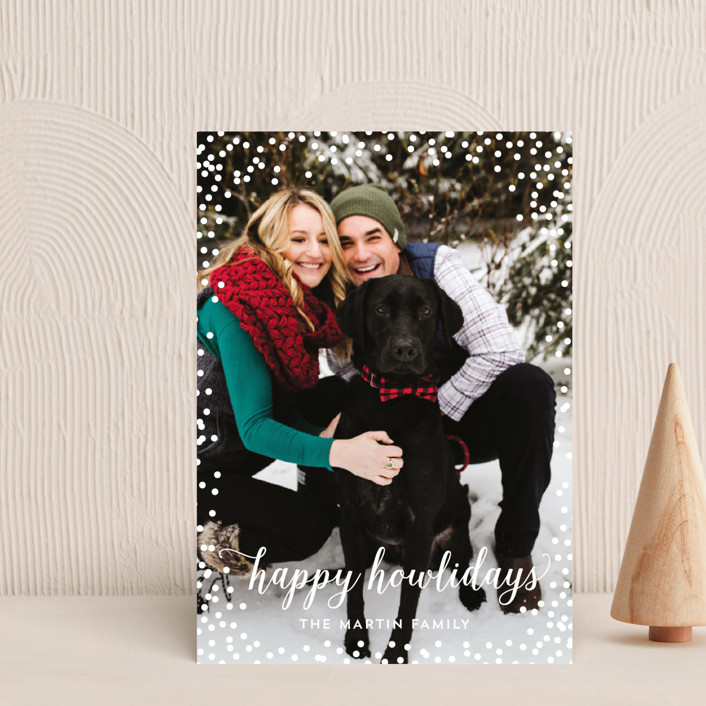 """Confetti Howlidays"" - Funny Holiday Postcards in Snow by Nicole Barreto."