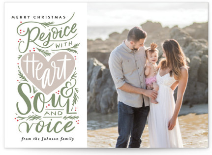 Rejoice with Heart and Soul and Voice Holiday Postcards