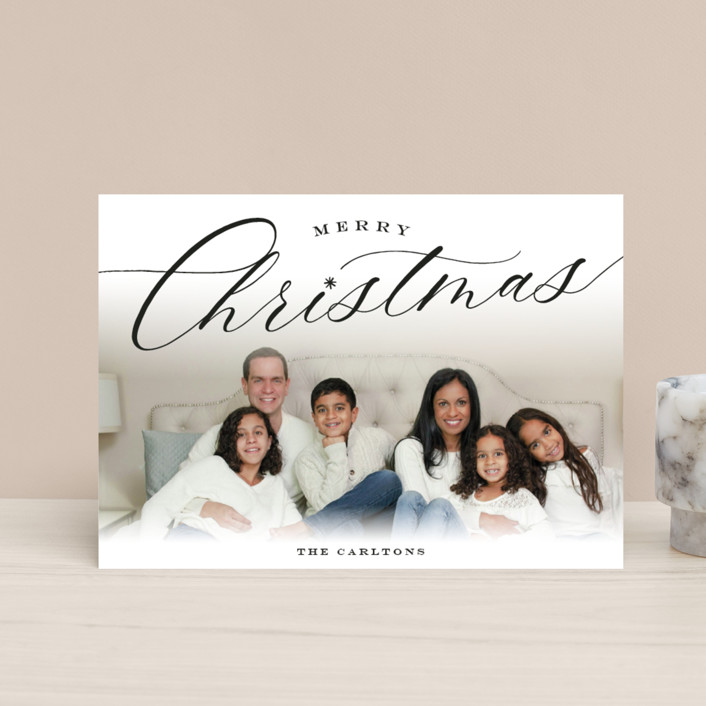 """""""Christmastide"""" - Holiday Postcards in Onyx by Sarah Curry."""