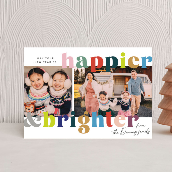 """""""Happier & Brighter"""" - Holiday Postcards in Candies by Alethea and Ruth."""