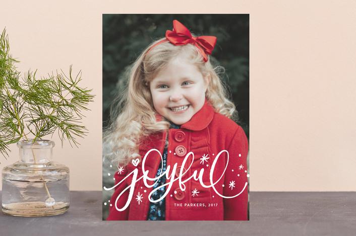 """Whimsically Joyful"" - Holiday Postcards in Snow by Iba Aziz."
