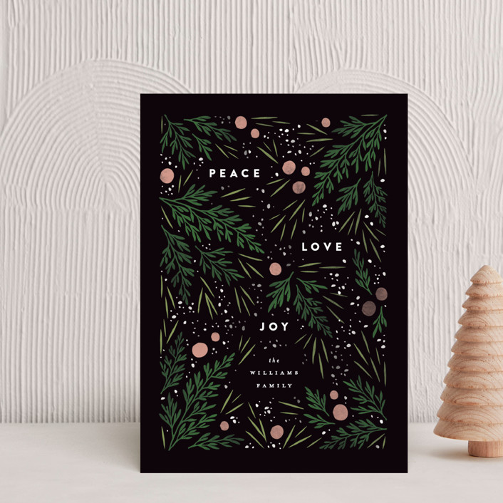 """Moody Flatlay"" - Holiday Postcards in Onyx by Robert and Stella."