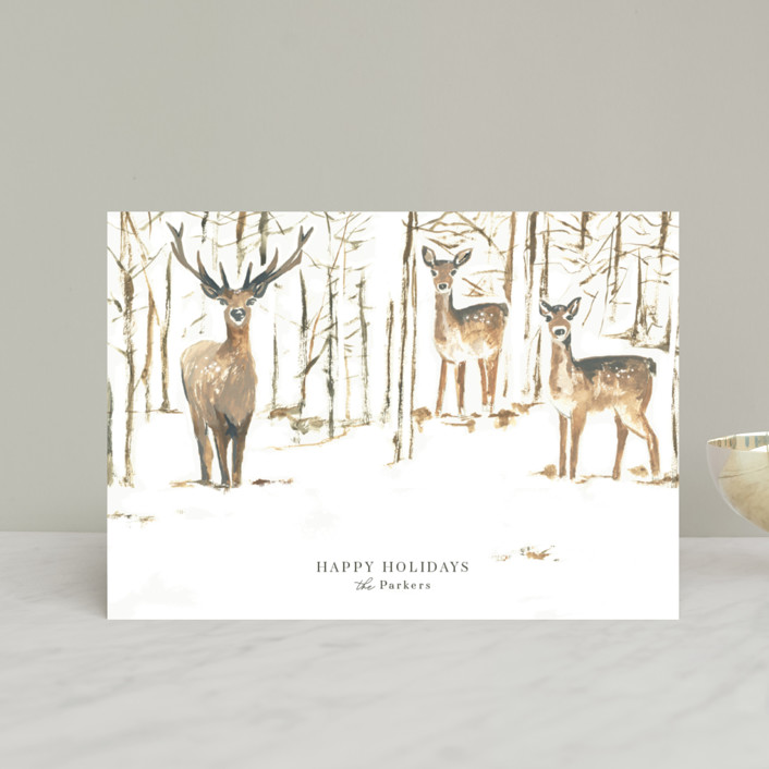 """""""Enchanted Forest"""" - Bohemian Holiday Postcards in Halo by Teju Reval."""