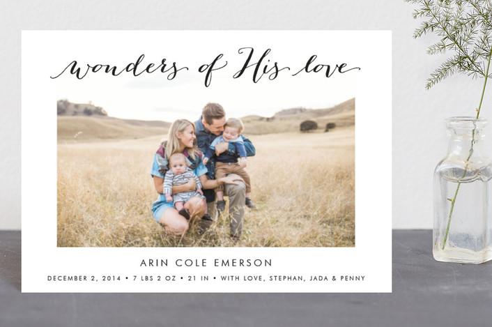 """""""Wonders of His Love"""" - Holiday Postcards in Oynx by Lehan Veenker."""