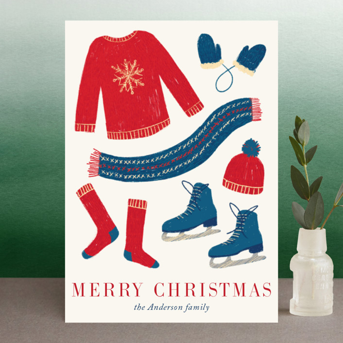 """Holiday Fun"" - Holiday Postcards in Winter by Alexandra Dzh."