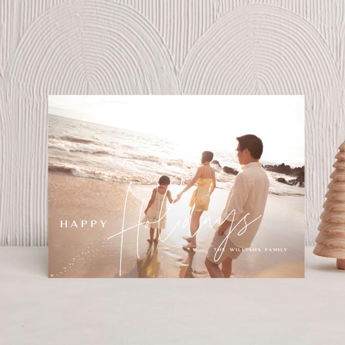 """Island Kalikimaka"" - Modern Holiday Postcards in Pikake by Guess What Design Studio."