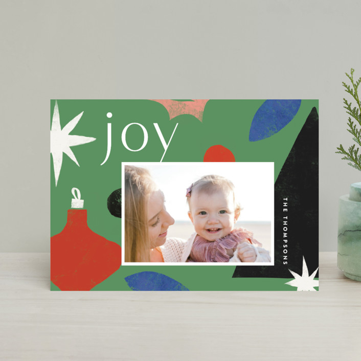 """""""Cut Tree"""" - Modern Holiday Postcards in Pine by Amy Kross."""