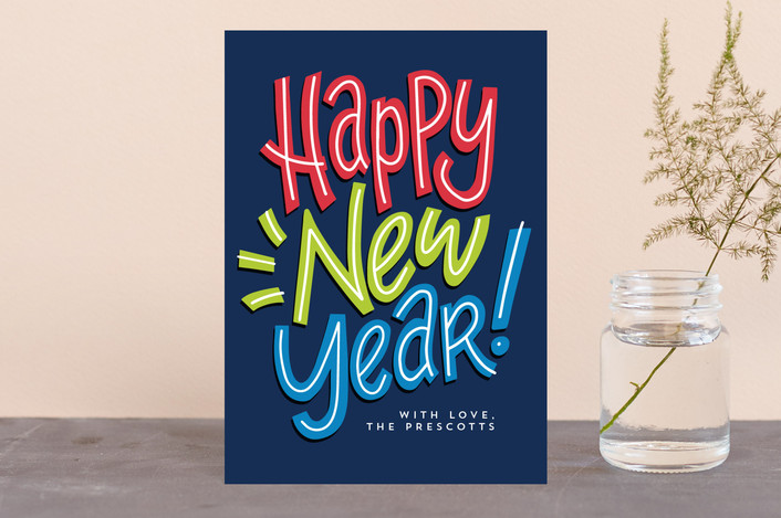 """""""Neo"""" - Holiday Postcards in Cheerful by Lea Delaveris."""