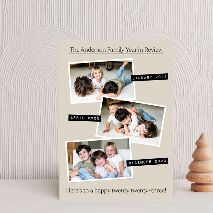 """""""Year in Review"""" - Holiday Postcards in Natural by Heather Schertzer."""