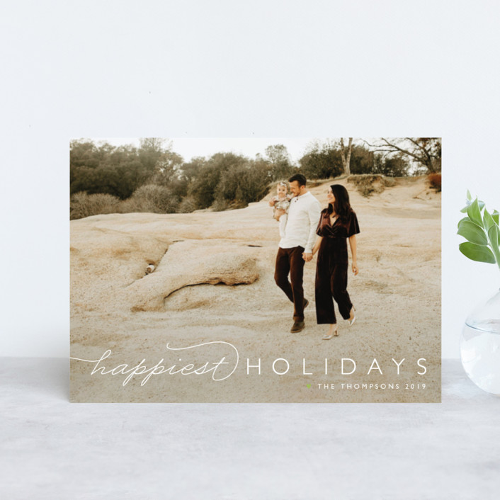 """""""Happiest Of All"""" - Holiday Postcards in Snowfall by Carolyn MacLaren."""