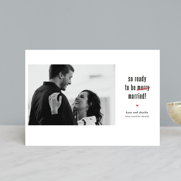 """""""Be Married"""" - Funny Holiday Postcards in Snow by Susan Brown."""