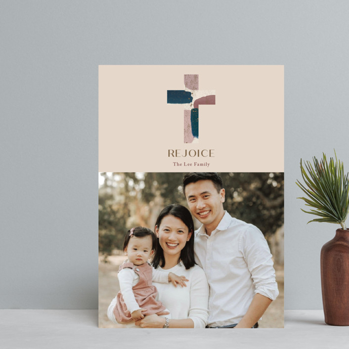 """Painted Cross"" - Holiday Postcards in Nightblue by Aspacia Kusulas."