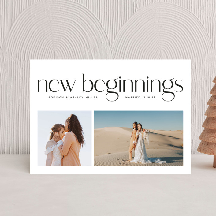 """""""New Beginnings"""" - Holiday Postcards in Pearl by Owl and Toad."""