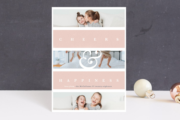 """""""Family Faith"""" - Holiday Postcards in Blush by Gwen Bedat."""