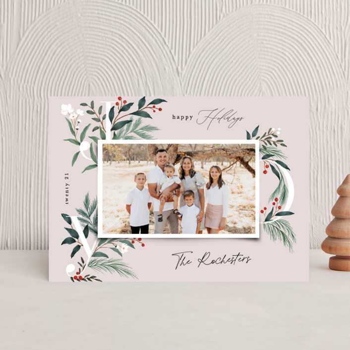 """""""Sweetest Joy"""" - Holiday Postcards in Blush by Elly."""