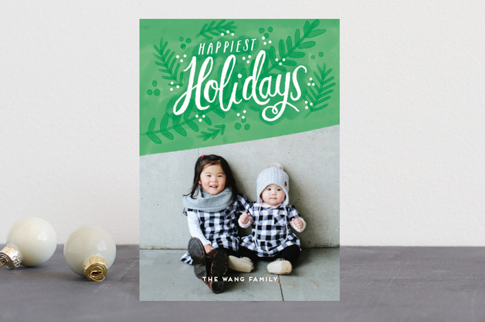 """Fresh Holidays"" - Holiday Postcards in Mint by iamtanya."