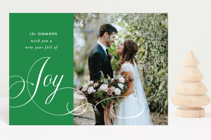 """Elegant Season of Joy"" - Holiday Postcards in Ruby by Kimberly FitzSimons."