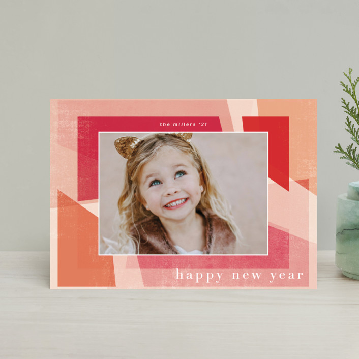 """""""Fractal"""" - Holiday Postcards in Mixed Berry by Grace Kreinbrink."""