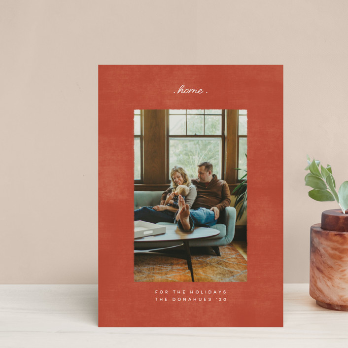 """staying at home"" - Holiday Postcards in Brick by Becky Nimoy."