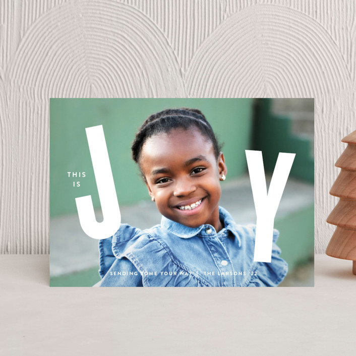 """""""THIS"""" - Holiday Postcards in Snow by Lauren Chism."""