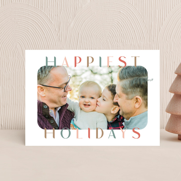 """""""Round and Round"""" - Holiday Postcards in Antique by Lauren Chism."""