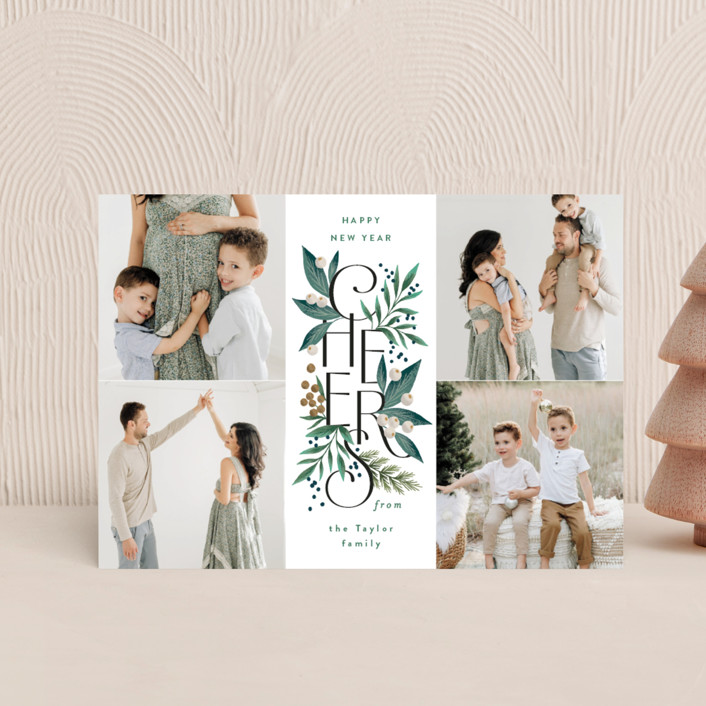 """""""Cheer Greens"""" - Holiday Postcards in Pine by Alethea and Ruth."""