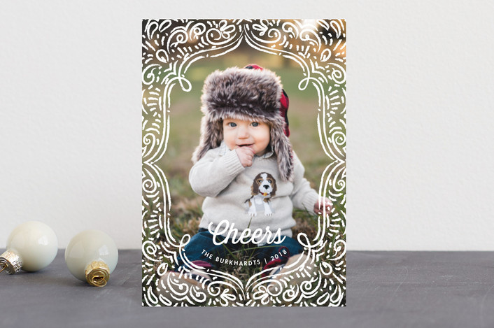 """""""Drawn Frame"""" - Holiday Postcards in Snow White by Snow and Ivy."""