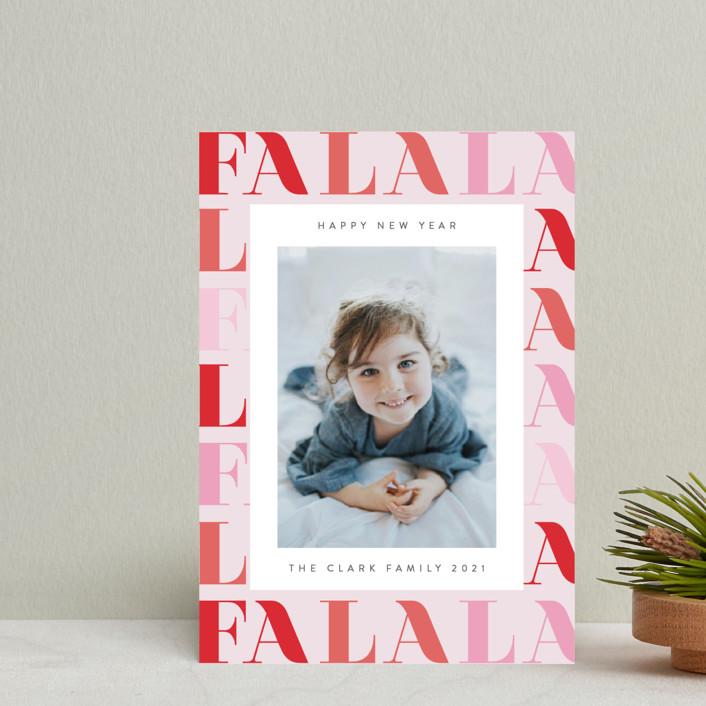 """""""Pretty Fa La La"""" - Holiday Postcards in Candy by Ana Sharpe."""