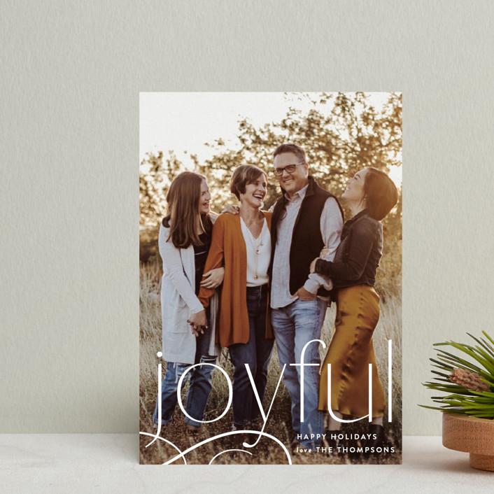 """Still Feeling Joyful"" - Holiday Postcards in Linen by Robert and Stella."