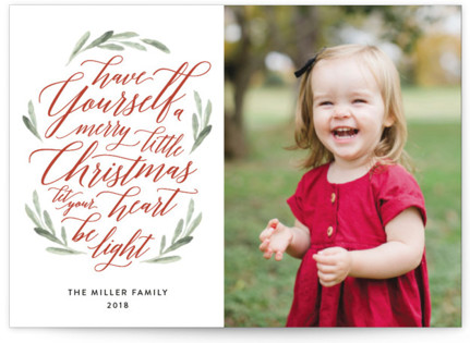 Scripted Christmas Holiday Postcards