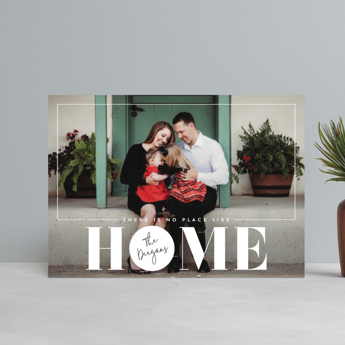 """""""No Place Like Home"""" - Holiday Postcards in Linen by Erin Deegan."""