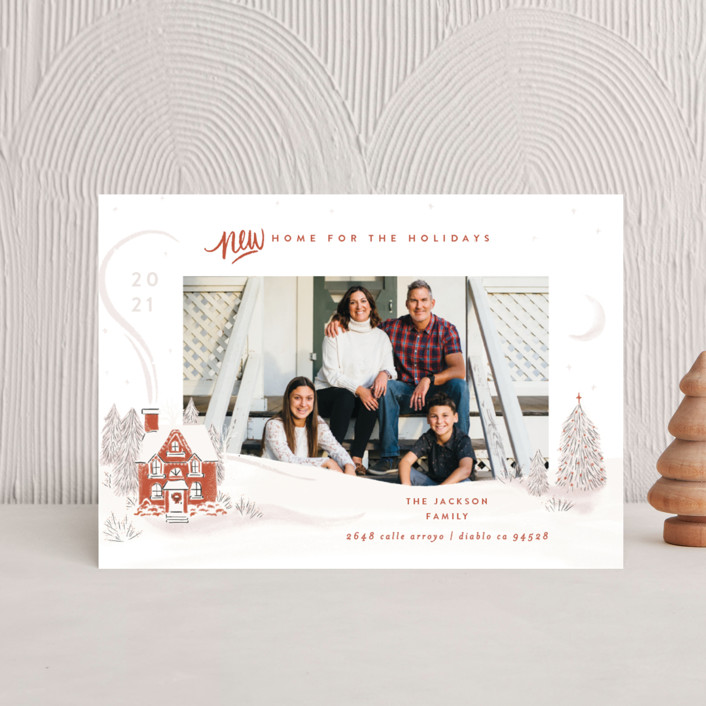 """""""Vintage Cozy Home"""" - Holiday Postcards in Pumpkin by Shiny Penny Studio."""